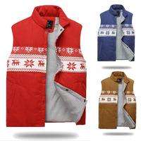 2014 New men's vest men winter down vest men's waistcoat Slim imitation cotton waistcoat jacket male