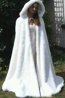 Cheap Bridal Cape Ivory Stunning Wedding Cloaks Hooded with Faux Fur Trim Ankle Length Perfect For Winter Long Wraps Jacket 2015