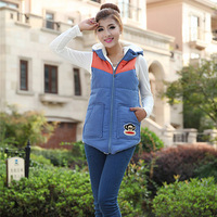 New 2014 Winter Warm Thick Vest Coat Large Size Casual Hooded Lamb's Wool Cardigan Waistcoat Outwear VS1007