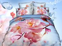 4pcs per set cape jasmine flower on 3d bedding sets of luxury beddings GD 106