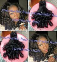 Aunty funmi human hair malaysian Grade 6A 3pcs #1b real virgin funmi hair bouncy curls for black women free shipping