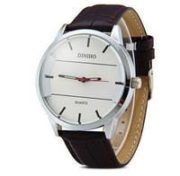 Luxury Watch Quartz Man Circular Dial Luxury Casual Quartz Watch Leather Strap Hour Marks Brand Fashion Wristwatches For Man