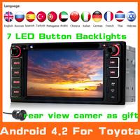 2 Din Android 4.2 Car DVD Automotivo GPS For Toyota Camry Corolla RAV4 Hilux Yaris GPS Navigation+autoradio+Audio+Stereo+radio