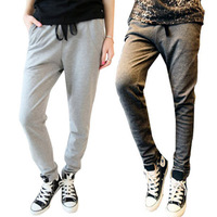 3 Colors Womens Casual Sweatpant Yoga Sports Harem Pants Drawstring Pants Trousers For Freeshipping