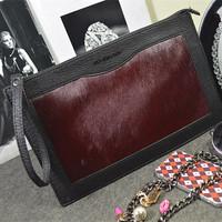 Winter Bags 2014 New High Quality Women Messenger Bags Day Clutch Bags Dermal Horsehair Shoulder Bags Handbags BG124