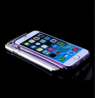 Hot Selling Double color aluminum bumper Case for iPhone 6 with retail package Free shipping