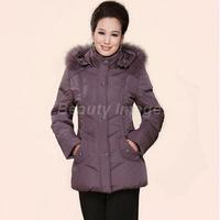 XL-6XL Woman Long Thick Winter Coat Jacket Fashion Casual 2014 Grey Duck Down Women