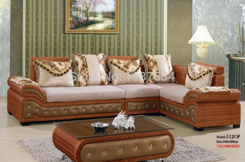 512C# Modern living room furniture high quality ranttan sectional sofa sets home furniture sofa set(China (Mainland))