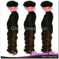 Beautiful 6a Cheap 100% Unprocessed Malaysian Hair Natural Black 1B/Dark Brown #30 3 Bundles Funmi Hair Two Tone Human Hair