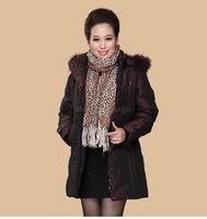 2014 Long Women Middle-Aged Winter Down Jacket Casaco Inverno Feminino Woman Luxury Jacket