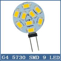 10x LED Light G4 5730 9 LED 12V Chandelier Crystal Home Reading RV Marine Boat Round Corn Bulb Cabinet Car Interior Lamp