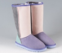 winter shoes snow boots for women high boots women's boots female 2014 neve lady  genuine leather boots