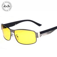 Aluminum Magnesium Alloy Polarized sunglasses Driver using night vision Goggles Night Glare luminous Polarizing Driving Glasses