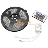 Led Strip 3528 SMD 5M Fiexible tira LED light + 24Key IR Remote Controller Led RGB Tape Christmas decoration rgb led Strip