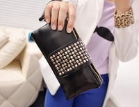 Hot Casual Mango women's handbag mng bag mango metal rivet women's handbag bag shoulder bag free shipping