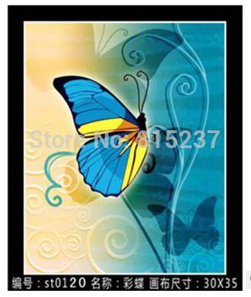Beautiful Home Wall Decoration Embroideries, Fairy Butterfly Diamond DIY Cross Stitch Artwork(China (Mainland))