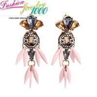 Individual Arrow Tassel Crystal Floral Drop Earrings Fashion Vintage Brand Charm Jewelry For Women Gift Engagement Party Dress