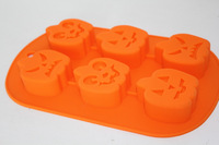 Spirit demon pumpkin silicone cake mould  cake tool muffin sweet candy jelly silicone cake mold