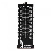 Black 18 Hole Golf Stroke Shot Putt Score Counter Keeper with Key Chain H8880 Free Shipping