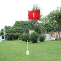 Backyard Practice Golf Flagstick Hole Pole Flag Cup Stick Putting Green Chipping H9461 Free Shipping
