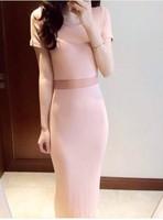 2014 new fashion women summer Sexy curves waist perspective slim long gauze one-piece dress fight