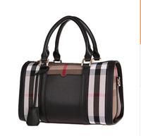 new 2014 European and American fashion elegant grid bag shoulder inclined across mobile female bag