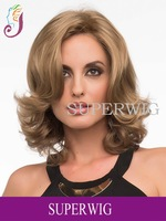 New Fashion Popular Celebrity Custom Wavy Wig Synthetic Heat Resistant  Lady Hair Party Wig ,wholesale Free shipping