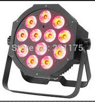 12pcs 9W  ADJ Tricolor led flat par can light