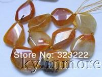 "8SE09920a 35x27mm Fire Agate  Beads DIY 15.5"""