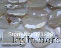 "8SE09659a 40x60mm white Agate beads  DIY 15.5"""