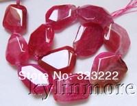 "8SE09919a 35x27mm Fire Agate Beads DIY 15.5"""