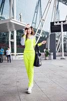 New fashion 2014 patchwork women casual sports suit slim track suit hoodies set for Autumn 2 pcs/set 4 colors M L XL XXL