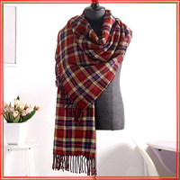 The scarf Autumn and winter women han edition British double dot grid scarf Thickening and warm scarf