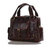 Guaranteed 100% genuine leather man bag new retro leather casual messenger bag men brown tote italian leather handbags