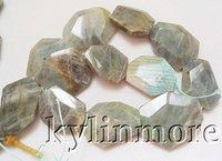 """8SE039724 26x34MM labradorite Faceted Beads DIY 15.5"""""""