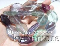 "8SE09767a 18x25mm purple fluorite Faceted beads  DIY 15.5"""