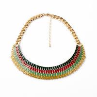 Enamel Ripple Collar Necklace