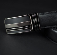 2014 new Men genuine leather belt cowhide high quality auto locked  buckle men leather strap 3 Extra large size free shipping
