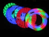 High Bright RGB 7 Colors Changing AC110/240V 100Bulbs/M 2.7M/Cut 50M/Roll 100% Copper  LED Soft Neon Lights