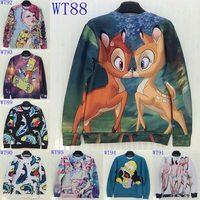 Newest 2014 Autumn Winter Women/Men's 3d Sweatshirt Cotton Hoody Women Hoodies Personality Funny Sweater Tops WTH13
