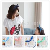 Free shipping Children bow hair hoop head band kids hair accessories rabbit ear hair band for women P60