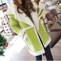 Winter Casacos Femininos lambs Wool Coat Women Trench Coat Long Padded Suede female Colete feminino