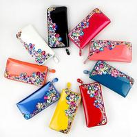 2014 New Fashion ladies' Wallet , Korean Handmade diamond Clutch bag