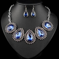 N-Z Charming First Class Crystals Jewelry Set with Pendants Necklace and Earrings Best Gifts for Elegant Lady JS-SZ0052