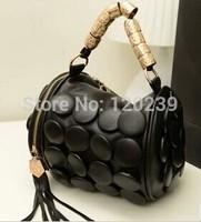 Europe and the United States Korean new handbag fringed button Ladies Handbag Shoulder Bag Messenger Bag bag