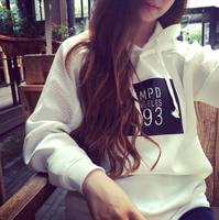 Fashion Yarn Patchwork Hoodies Women's Letter Printed Hooded Hoody Long Sleeve O-neck Pullovers Sweatshirts Ho8080
