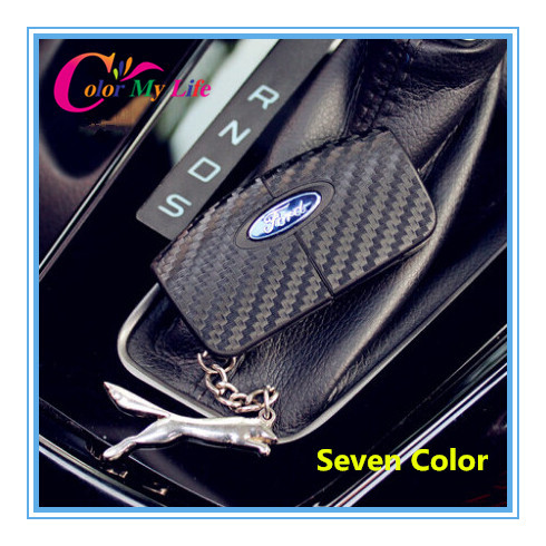 Fashion Carbon Fiber Key sticker key cover key case case for Ford Focus 2 3 2009-2012 Fiesta 2 3 Ecosport 2009 2012 2013 2014(China (Mainland))