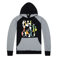 free shipping men's fashion brand Billabong Hoodies autumn pullover sweatshirt long-sleeve hiphop winter full clothing