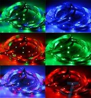 LED strip LED  light  3528 12V flexible light 60 leds/m,5m/lot ,RGB with remote,tira llevada,striscia principale