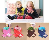 Baby Scarf Children Muffler Infant Boys Girls Warm Scarves Cotton Winter Kids Shawl Knitted Neck Bib Neckerchief RY016